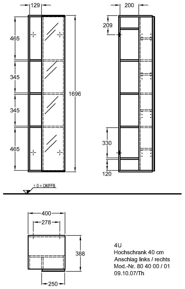 keramag 4u hochschrank 804000 megabad. Black Bedroom Furniture Sets. Home Design Ideas