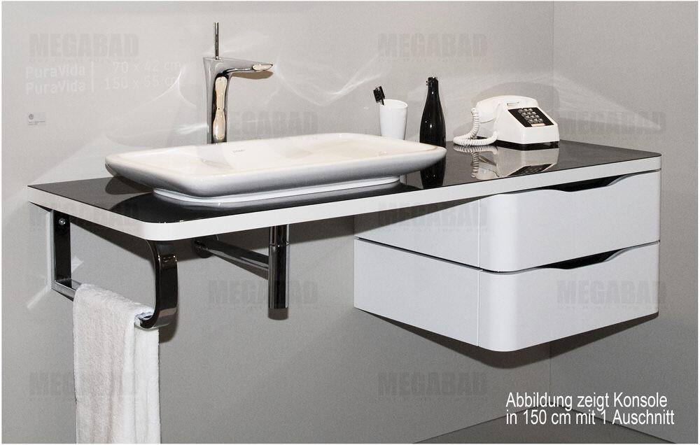 duravit puravida konsole 130 cm vorwandversion f r 037070. Black Bedroom Furniture Sets. Home Design Ideas