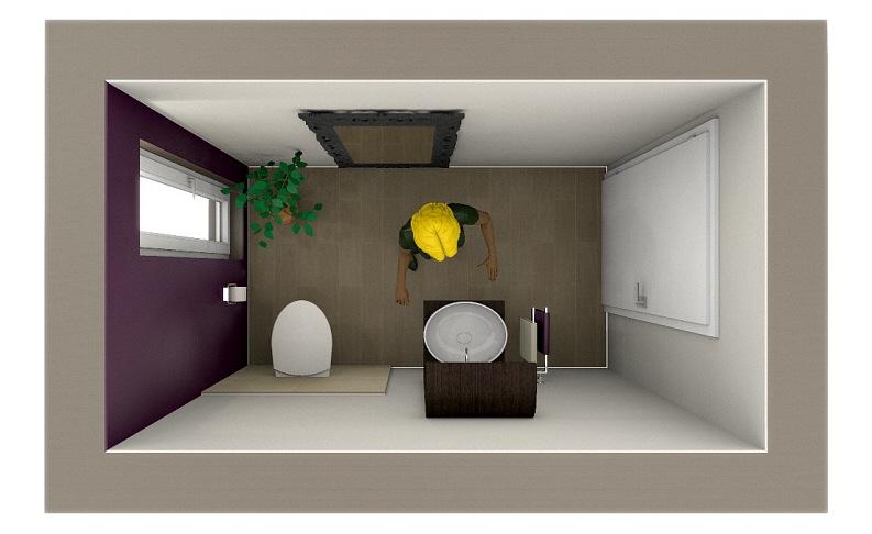 megabad badplanung paket b1 f r ein g ste wc mit variante megabad. Black Bedroom Furniture Sets. Home Design Ideas