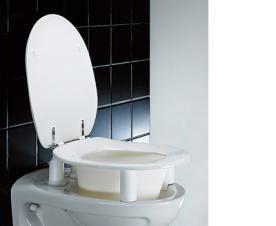 pressalit carecompletion toilettensitz dania erh ht mit deckel megabad. Black Bedroom Furniture Sets. Home Design Ideas