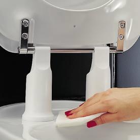 pressalit carecompletion toilette sitz dania 10 cm erh ht ohne deckel megabad. Black Bedroom Furniture Sets. Home Design Ideas