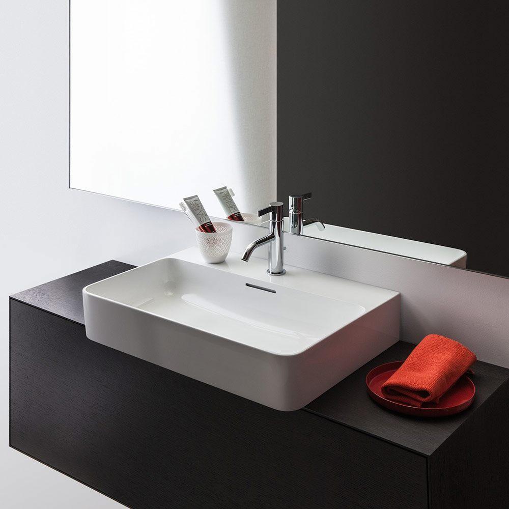 laufen val aufsatzwaschtisch 60 x 42 cm ohne hahnloch mit berlauf 8162830001091 megabad. Black Bedroom Furniture Sets. Home Design Ideas
