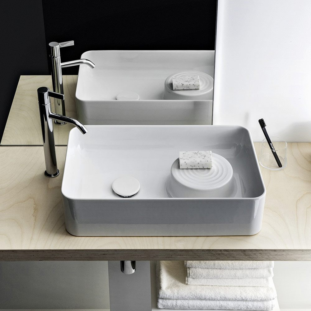 laufen val waschtisch schale 55 x 36 cm ohne hahnloch ohne berlauf h8122820001121 megabad. Black Bedroom Furniture Sets. Home Design Ideas