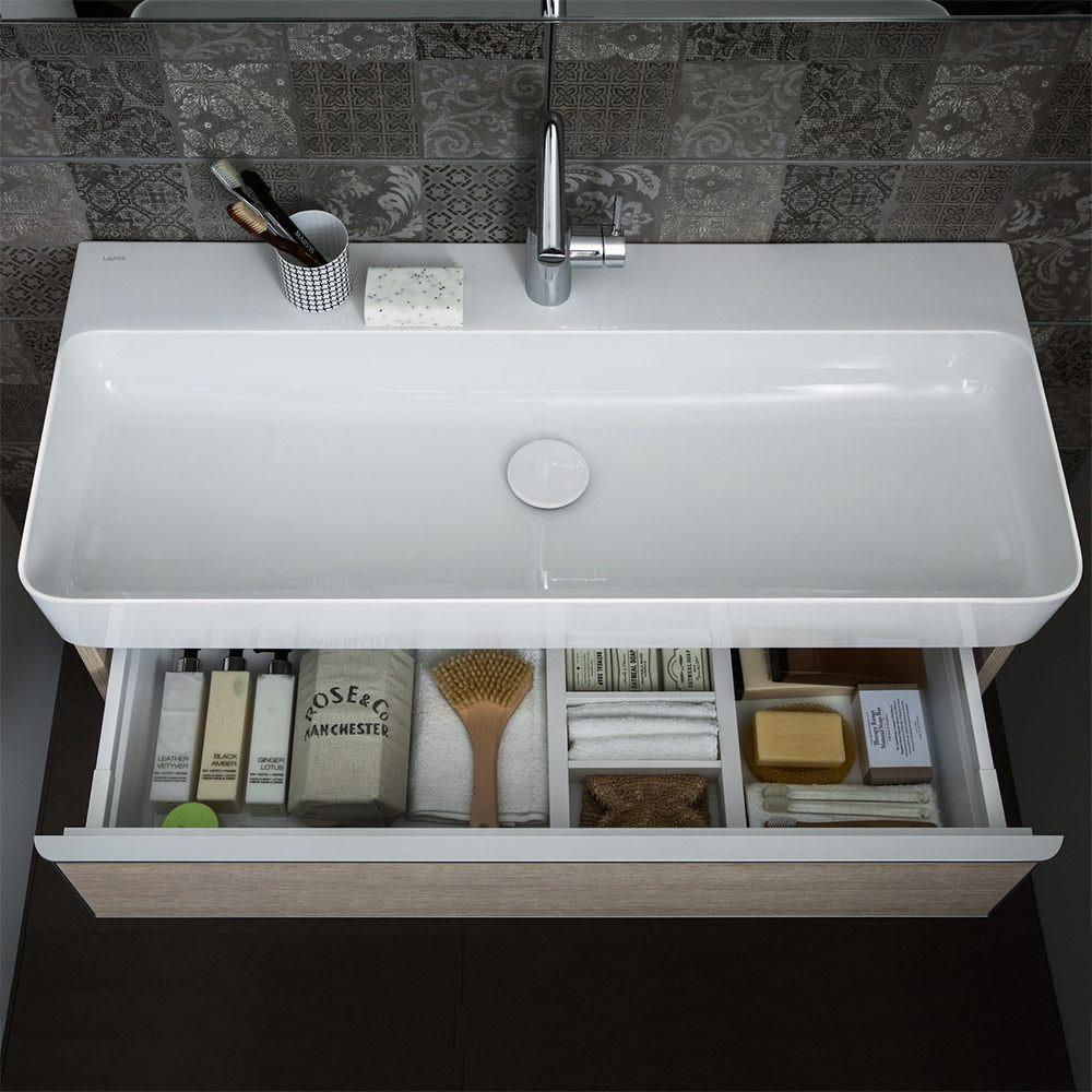 laufen val waschtisch unterbauf hig 95 x 42 cm ohne hahnloch mit berlauf h8102870001091 megabad. Black Bedroom Furniture Sets. Home Design Ideas