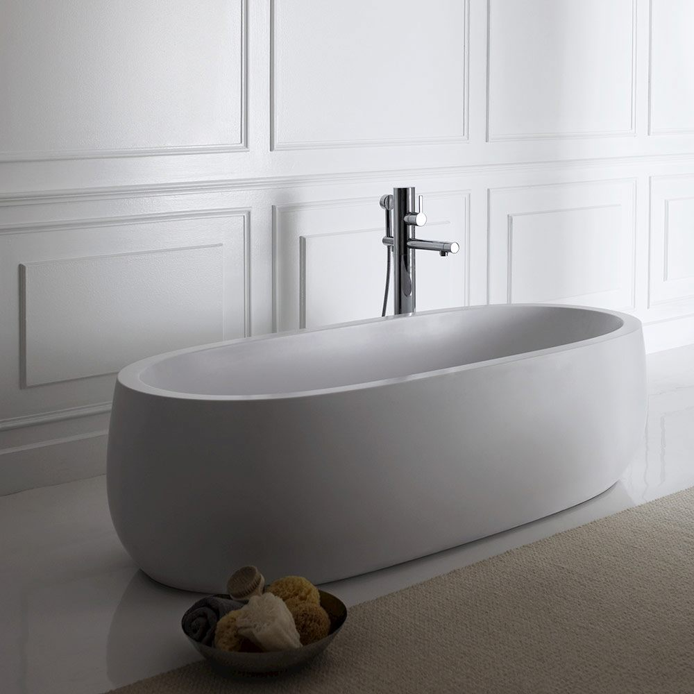 laufen il bagno alessi freistehende badewanne 183 x 87 cm. Black Bedroom Furniture Sets. Home Design Ideas