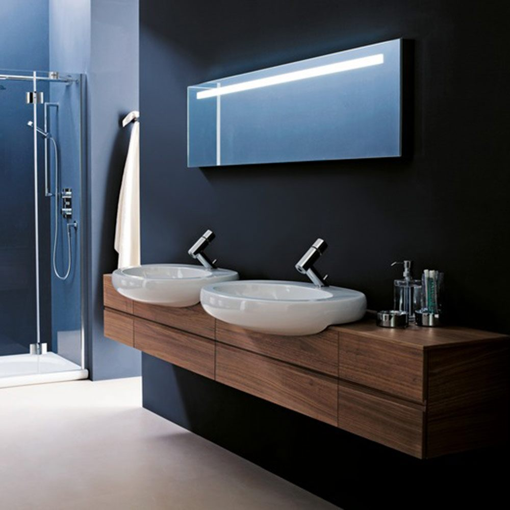laufen il bagno alessi halbeinbau waschtisch 75 cm 8139724001041 megabad. Black Bedroom Furniture Sets. Home Design Ideas