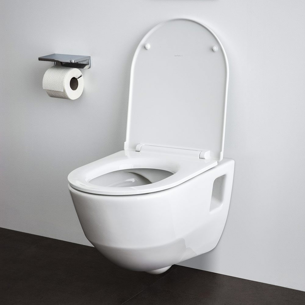 laufen pro wc sitz mit abnehmbarem deckel und absenkautomatik h8919513000031 megabad. Black Bedroom Furniture Sets. Home Design Ideas