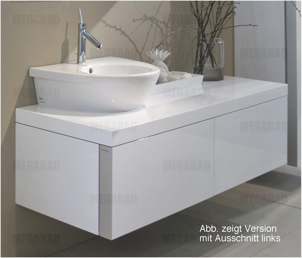 duravit starck 1 waschtischunterbau ausschnitt rechts s19529r8585 bei megabad megabad. Black Bedroom Furniture Sets. Home Design Ideas