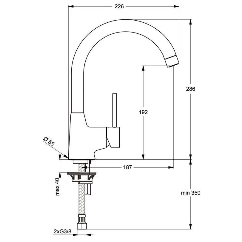 Ideal Standard Nora Einhebel-Küchenarmatur - B9328AA - MEGABAD
