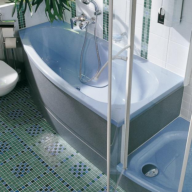 duscholux piccolo sky 181 kleinraum badewanne einbau ecke rechts 175 x 80 megabad. Black Bedroom Furniture Sets. Home Design Ideas