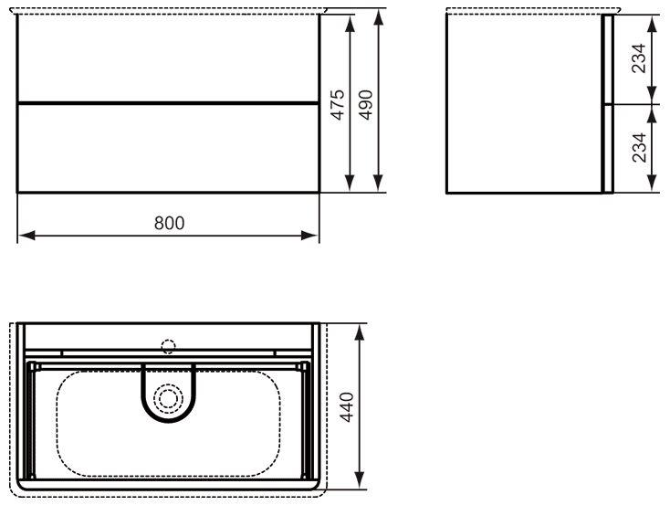 ideal standard softmood waschtischunterschrank 80 cm megabad. Black Bedroom Furniture Sets. Home Design Ideas
