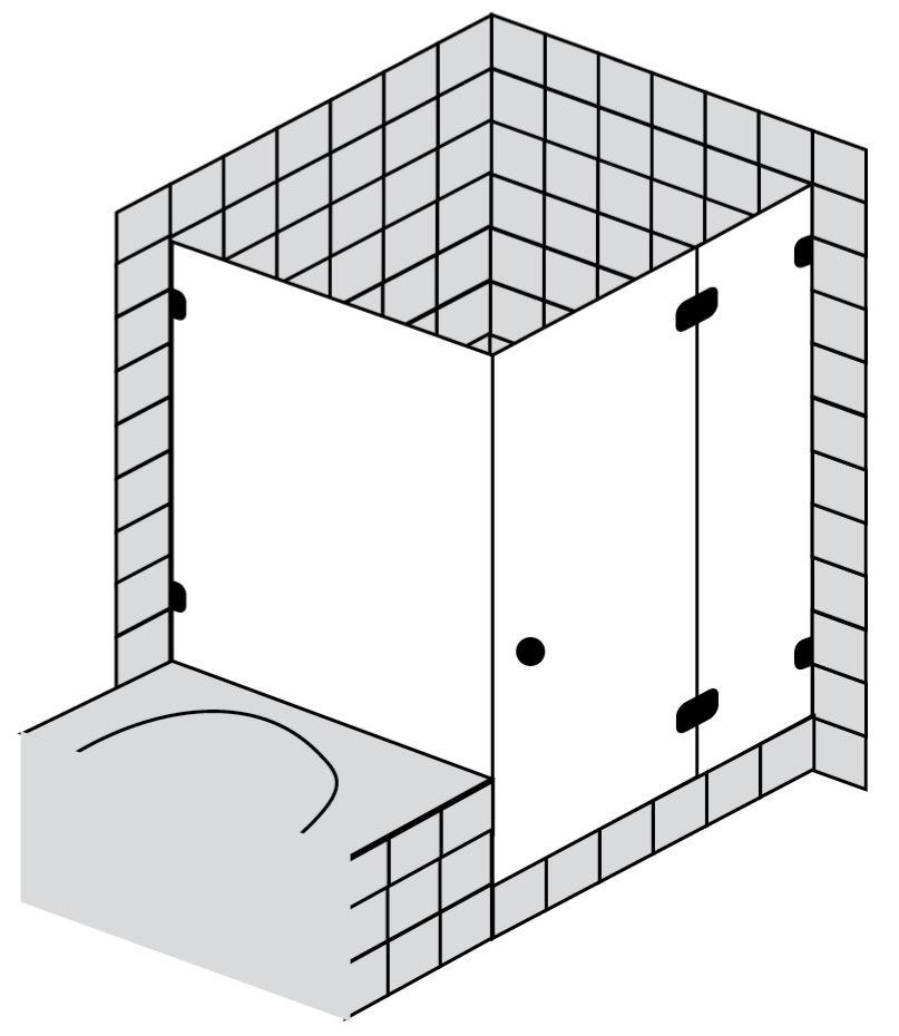 sprinz fortuna t r mit seitenwand an badewanne fa129chr megabad. Black Bedroom Furniture Sets. Home Design Ideas