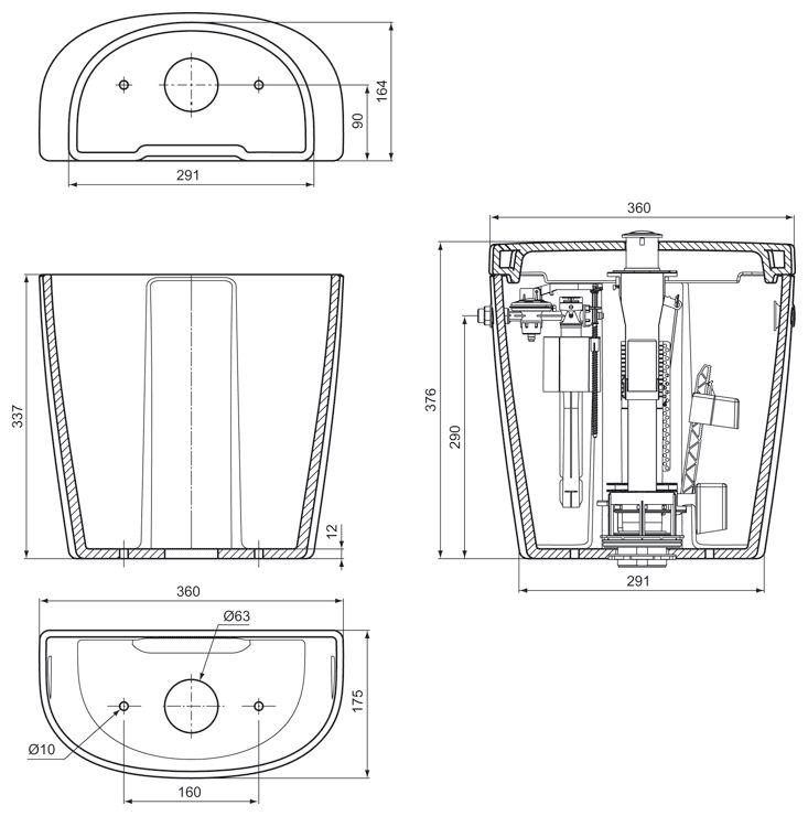 ideal standard connect sp lkasten arc art e786101 megabad. Black Bedroom Furniture Sets. Home Design Ideas