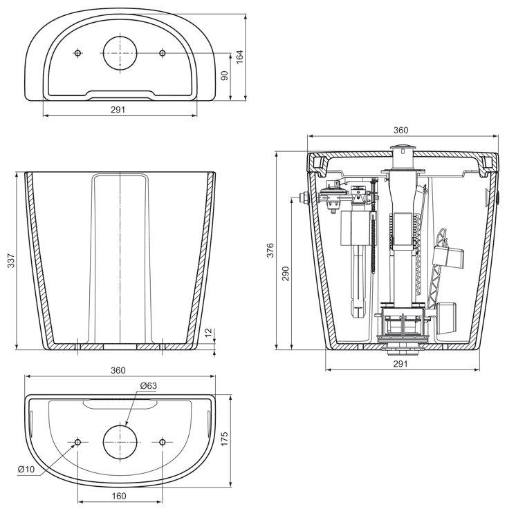 ideal standard connect sp lkasten cube e7971 01 megabad. Black Bedroom Furniture Sets. Home Design Ideas