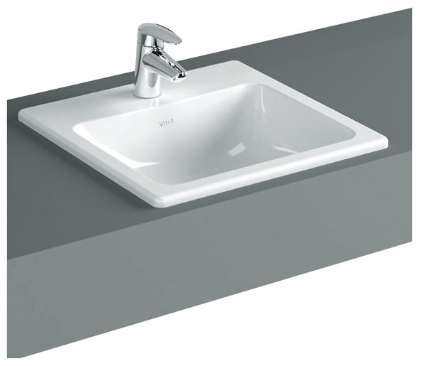 vitra s20 einbauwaschtisch 55 cm art 5465b003 0001 megabad. Black Bedroom Furniture Sets. Home Design Ideas