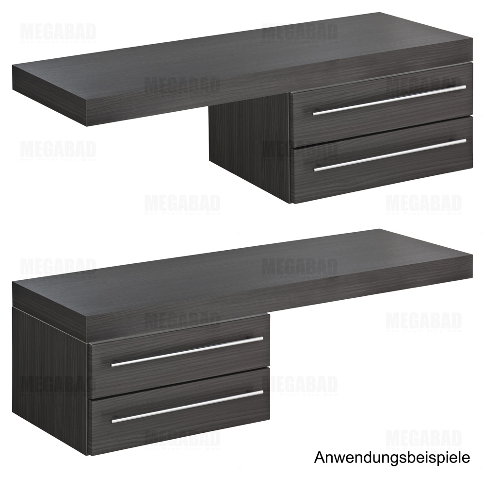 architekt 100 unterschrank f r konsole 60 cm mit 2 ausz gen megabad. Black Bedroom Furniture Sets. Home Design Ideas