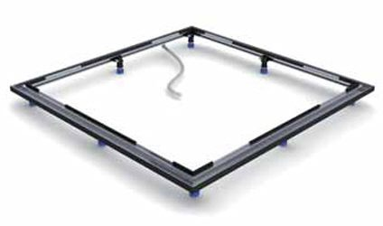 kaldewei einbau system rahmen esr ii 90 x 120 cm megabad. Black Bedroom Furniture Sets. Home Design Ideas
