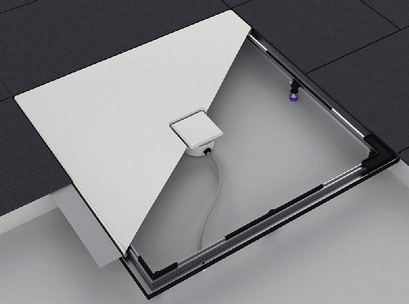 kaldewei einbausystemrahmen esr ii 90 x 90 cm megabad. Black Bedroom Furniture Sets. Home Design Ideas