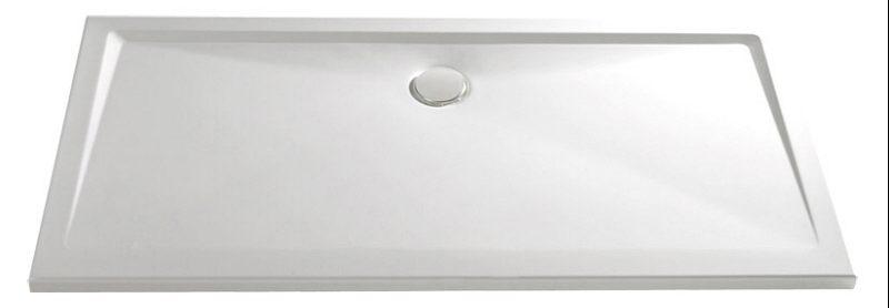 Duschwanne flach 100 x 140  Große Duschwanne: Quadratische duschwanne hdw36793 mit runder ...
