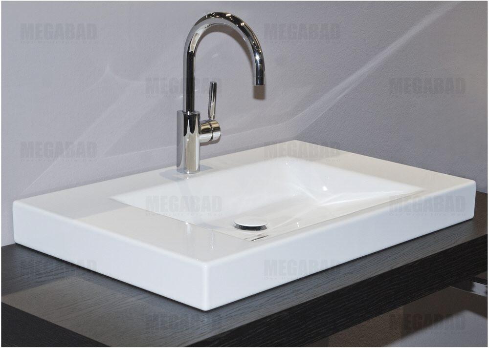 betteaqua aufsatzwaschtisch 80 x 47 5 cm mit hahnloch a042hlw1000 megabad. Black Bedroom Furniture Sets. Home Design Ideas