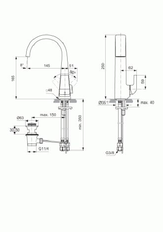 ideal standard jado jes waschtischarmatur h4484aa chrom. Black Bedroom Furniture Sets. Home Design Ideas