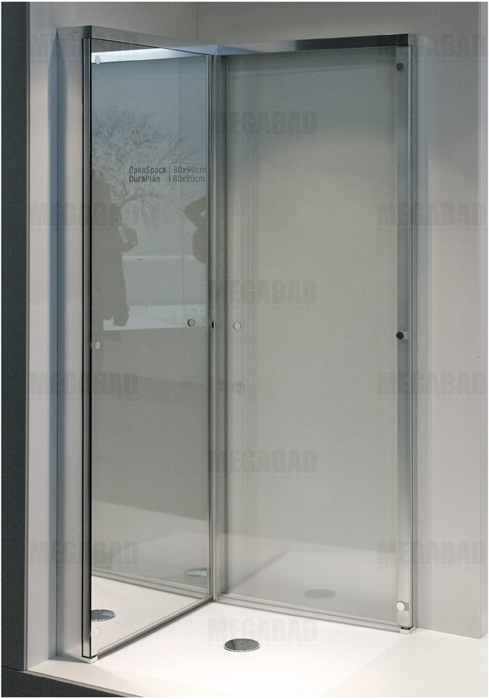 duravit open space duschabtrennung quadrat 80 x 80 cm. Black Bedroom Furniture Sets. Home Design Ideas