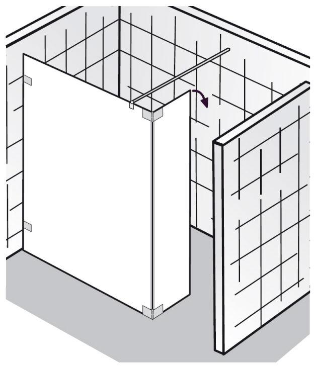 hsk walk in atelier pur glasfront mit schwenkbarem seitenteil sonderma megabad. Black Bedroom Furniture Sets. Home Design Ideas