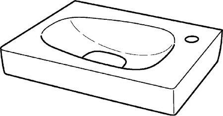 keramag citterio handwaschbecken 45 cm megabad. Black Bedroom Furniture Sets. Home Design Ideas