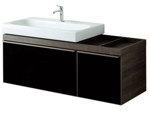 keramag citterio waschtischunterschrank mit ablagefl che rechts megabad. Black Bedroom Furniture Sets. Home Design Ideas