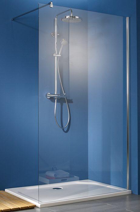 hsk walk in premium 2 gerades element 140 cm megabad. Black Bedroom Furniture Sets. Home Design Ideas