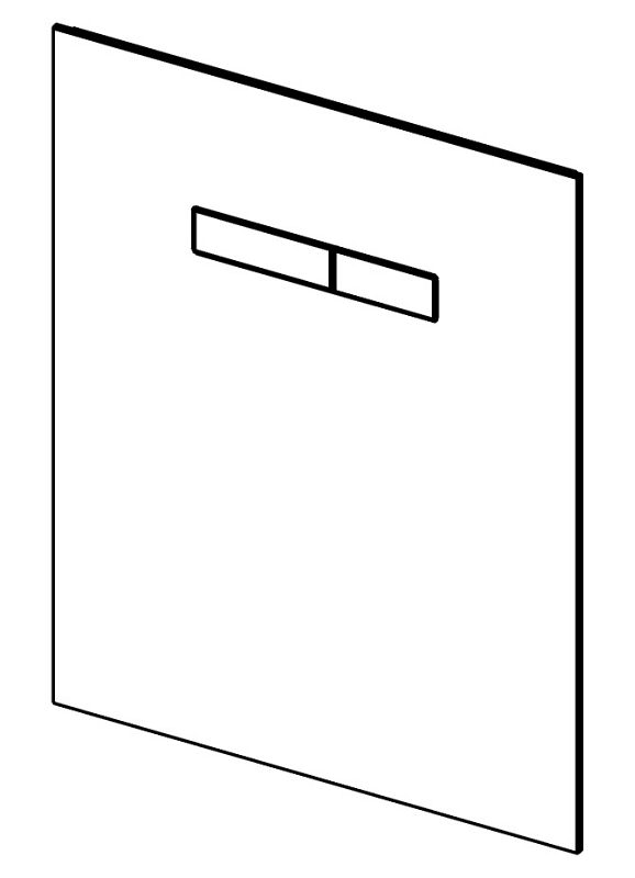 tece tecelux wc bet tigungsplatte 9650000 f r manuelle. Black Bedroom Furniture Sets. Home Design Ideas