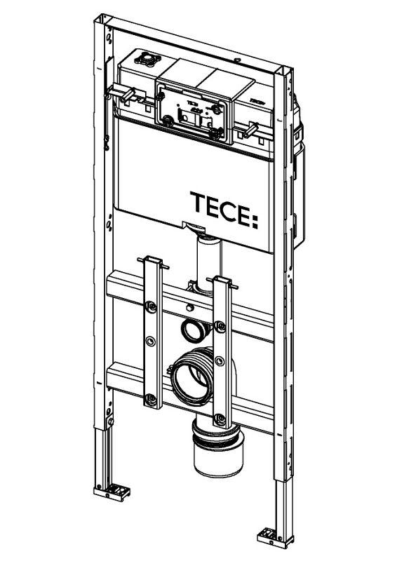tece lux wc modul 100 mit tece sp lkasten 9600100 megabad. Black Bedroom Furniture Sets. Home Design Ideas