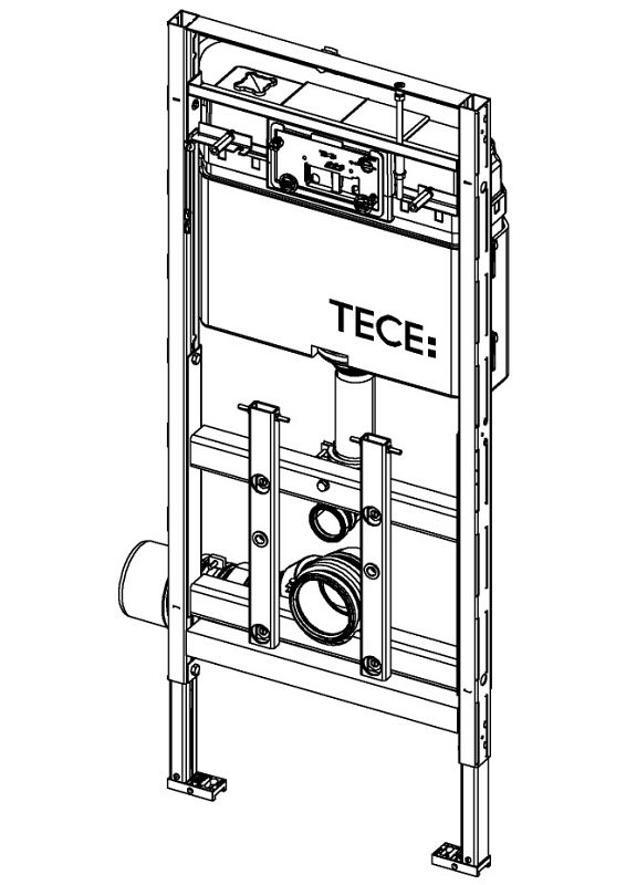 tece lux wc modul 200 mit tece sp lkasten 9600200 megabad. Black Bedroom Furniture Sets. Home Design Ideas