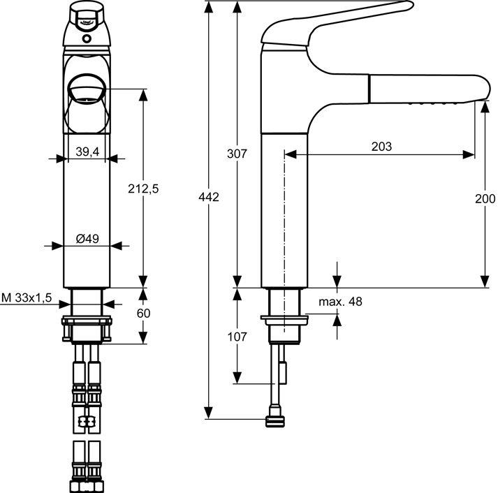 Arbeitsplattenhöhe Küche Standard ~ Home Design Ideen