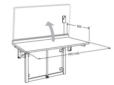 pressalit careelements wandh ngender ausklappbarer wickeltisch 80 x 90 cm megabad. Black Bedroom Furniture Sets. Home Design Ideas