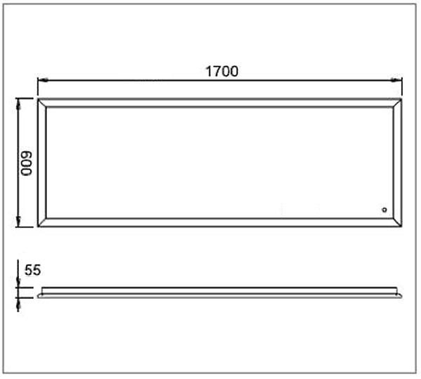 architekt 100 alumini spiegel 60 x 170 cm megabad. Black Bedroom Furniture Sets. Home Design Ideas