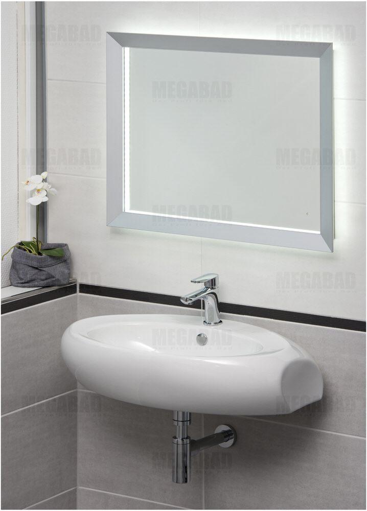 architekt 100 alumini spiegel 60 x 90 cm megabad. Black Bedroom Furniture Sets. Home Design Ideas