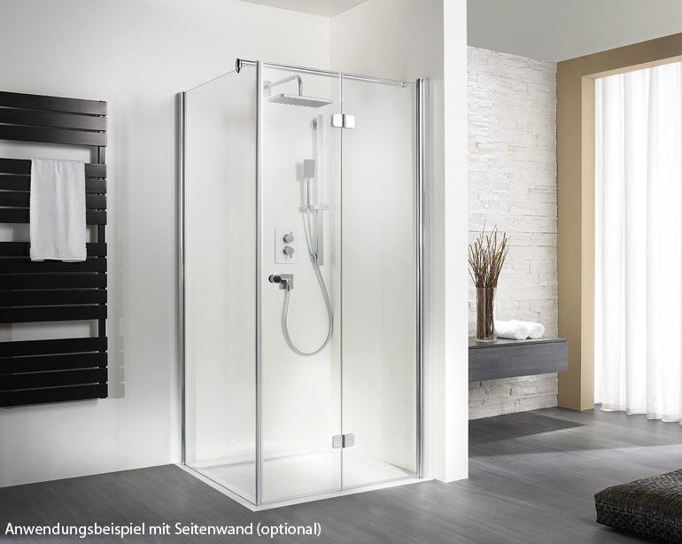 Faltt?r Dusche Erfahrung : HSK Exklusiv Drehfaltt?r f?r Seitenwand 90 x 200 cm Anschlag rechts