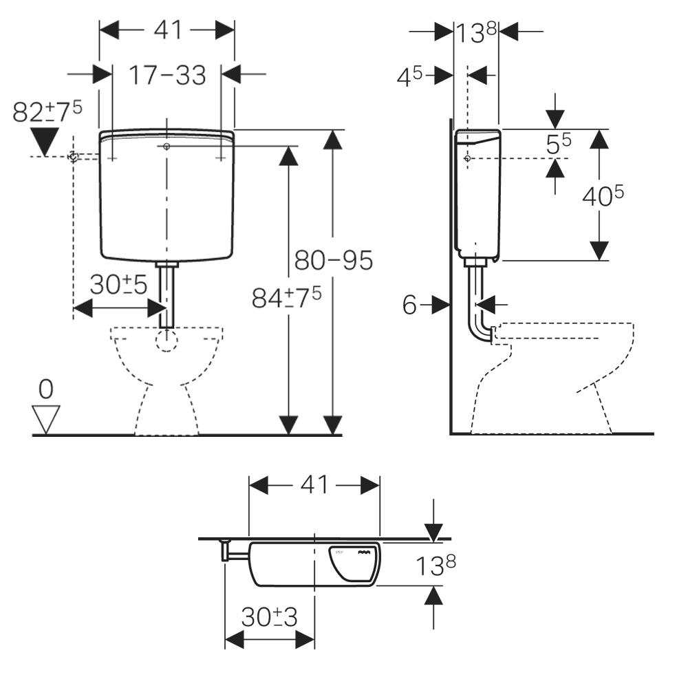 geberit ap sp lkasten ap140 sp l stopp sp lung megabad. Black Bedroom Furniture Sets. Home Design Ideas