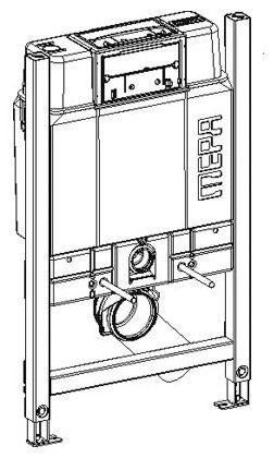 mepa varivit wc element sp lkasten sanicontrol typ b31 85 cm megabad. Black Bedroom Furniture Sets. Home Design Ideas
