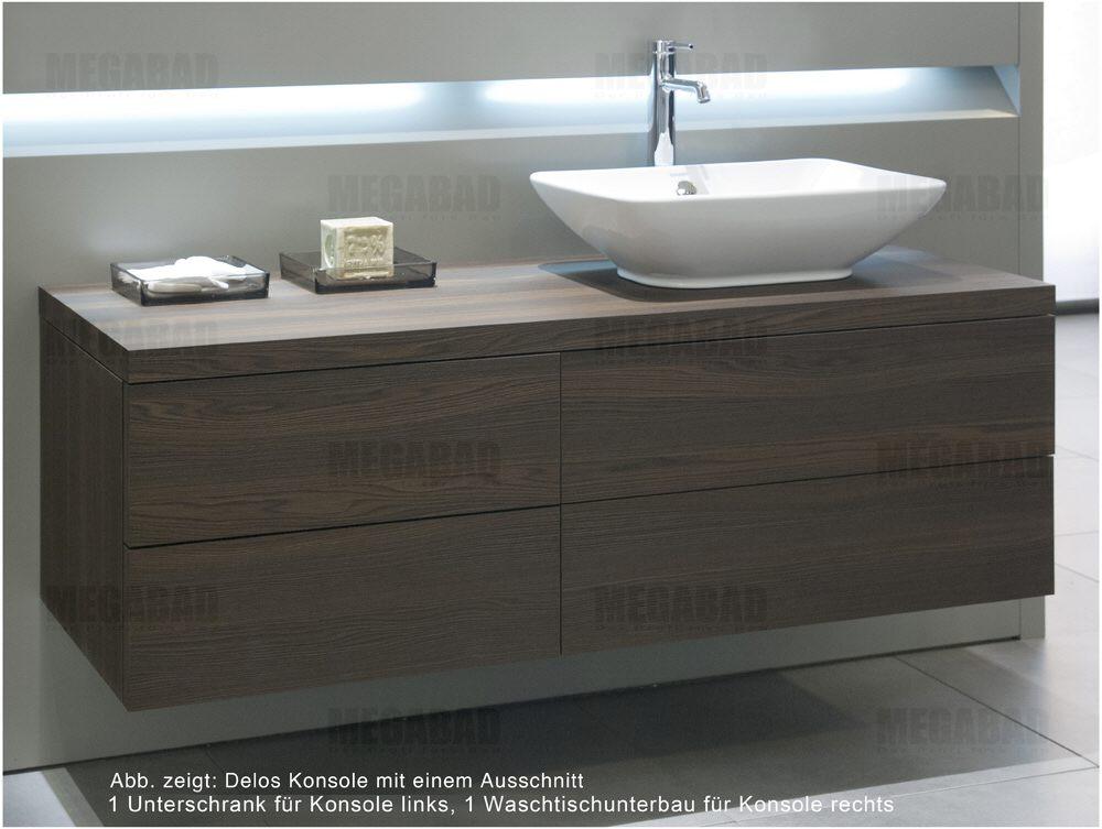 duravit delos konsole mit 1 ausschnitt 140 cm art dl020c01212 140cm megabad. Black Bedroom Furniture Sets. Home Design Ideas