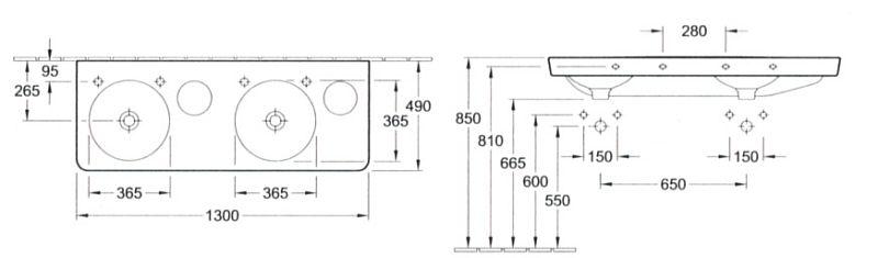 villeroy boch joyce schrank doppelwaschtisch 130 cm. Black Bedroom Furniture Sets. Home Design Ideas