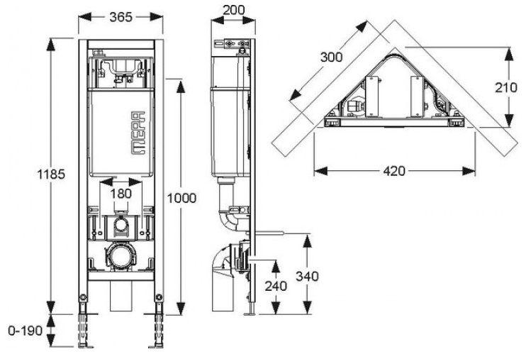 mepa varivit eck wc element sp lkasten sanicontrol typ e31 megabad. Black Bedroom Furniture Sets. Home Design Ideas