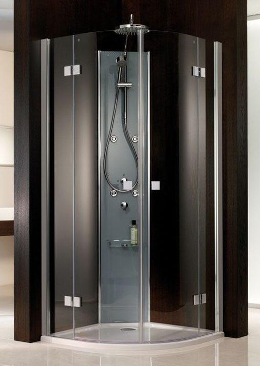 hsk atelier runddusche 4 teilig 80 x 80 x 200 cm festelement 22cm megabad. Black Bedroom Furniture Sets. Home Design Ideas