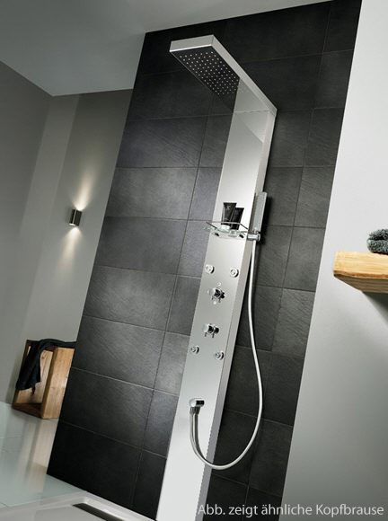 hsk lavida duschpaneel mit regentraverse bodenstehend 2 2 m megabad. Black Bedroom Furniture Sets. Home Design Ideas