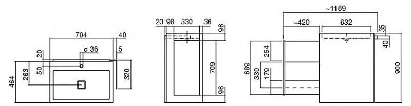 alape waschplatz wp ins1 inside s megabad. Black Bedroom Furniture Sets. Home Design Ideas