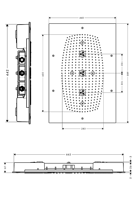 hansgrohe raindance rainmaker eckig ohne beleuchtung 28417000 megabad. Black Bedroom Furniture Sets. Home Design Ideas