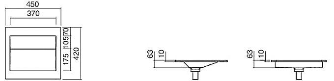 alape flach einbaubecken fb ry450 45 x 42 cm megabad. Black Bedroom Furniture Sets. Home Design Ideas