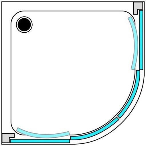 runddusche 80x80 simple luxus dusche duschwand aus. Black Bedroom Furniture Sets. Home Design Ideas