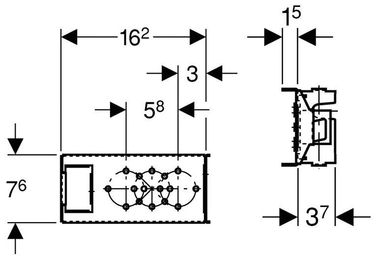 geberit gis traverse f r wandarmatur ap mit 1 wasseranschluss megabad. Black Bedroom Furniture Sets. Home Design Ideas